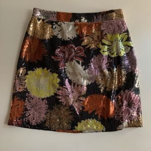 Sequin Floral Skirt